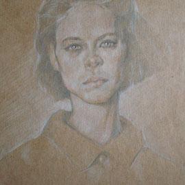 """""""Stefania"""" - pastello su cartoncino colorato cm. 30 x 20"""
