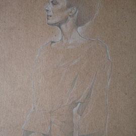 """""""Antonia"""" - pastello su cartoncino colorato cm. 40 x 30"""