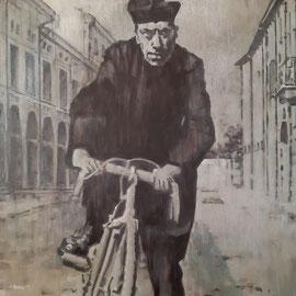 """""""Don Camillo"""" - acrilico su tela, cm. 60 x 60 - € 300,00"""