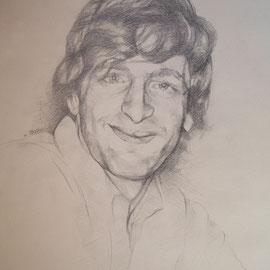 """""""Flavio"""" - matita su carta cm. 29,7 x 21 - Carugate, collezione privata"""