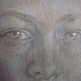 """""""Maria Elèna"""" (particolare) - pastello su cartoncino colorato cm. 30 x 20"""