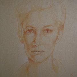 """""""Giuseppina"""" - pastello su cartoncino colorato cm. 30 x 20"""