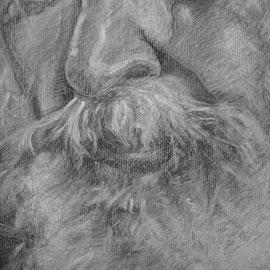 """""""Amerigo"""", particolare 2 - carboncino su carta colorata, cm. 35 x 50 - € 150,00"""