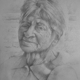 """""""Marisa"""" - matita su carta cm. 29,7 x 21 - Carugate, collezione privata"""