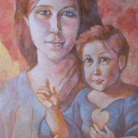 """""""Madonna con Bambino"""", olio su tela, cm. 30 x 50 - Monza, collezione privata"""