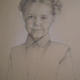 """""""Bambina"""" - pastello su carta colorata cm. 30 x 20"""