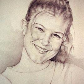 """""""Sorriso"""" – pastello su carta cm. 50 x 35 – Cernusco sul Naviglio, collezione privata"""