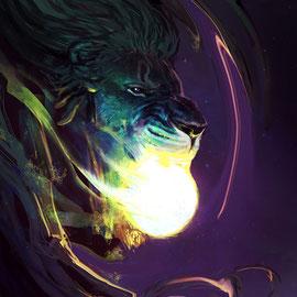 alchemy-alchemie-der-grüne-löwe-verschlingt-die-sonne-the-green-lion-devours-the-sun-ether-spiritual-art-spirituelle-kunst-astral-art-illustration-pleroma-arian-