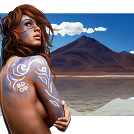 tribal-girl-landscape-body-paint-sky-illustration-photorealistic-comission-portrait-study-1-2