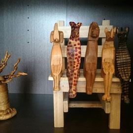 バオバブの木(小)とすわり動物(各種)