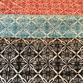 Block Print Fabric Ruby  made in Rajasthan