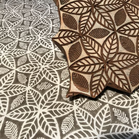 Block Print Fabric Lia, made in Rajasthan, designed by Maasa Production pvt. Ltd.