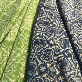 Block Print Fabric Anjou, made in Rajasthan, designed by Maasa Production pvt. Ltd.
