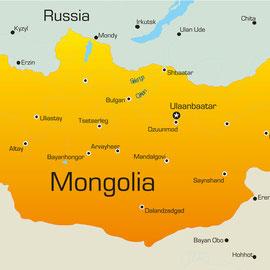 Karte von der Mongolei