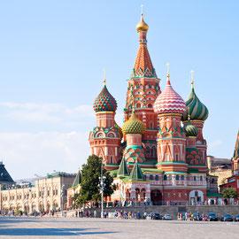 Die Basilius Kathedrale in Moskau
