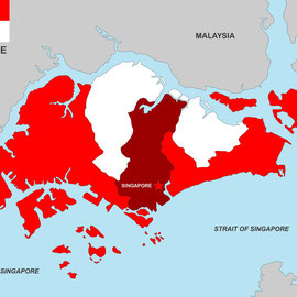 Karte von Singapur