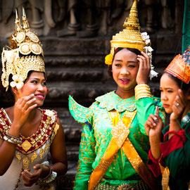 Traditionelle Kostüme, Siem Reap, Kambodscha