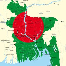 Karte  Bangladesch