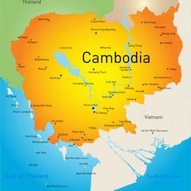 Karte von Kambodscha