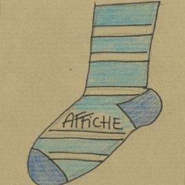 Affiche A petits pas de Florence A.L. Klein