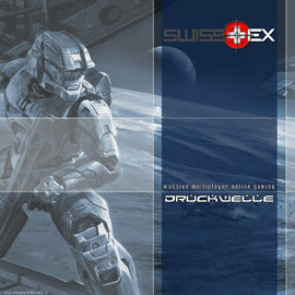 Swisstex Halo Wallpaper blau
