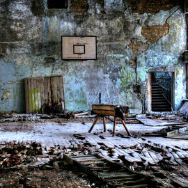 Palace of Culture at Duga Radar Exclusion Zone Chernobyl