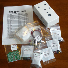 A typical kit with a white powder-coated, pre-drilled enclosure