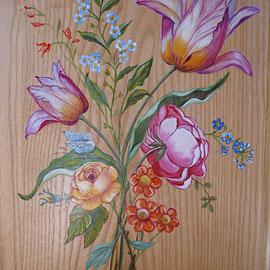 Meuble décoration florale  -copiryght Pascale Richert