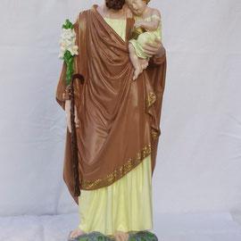 Statue religieuse en plâtre après restauration - Joseph (60 cm ) - copyright Pascale Richert