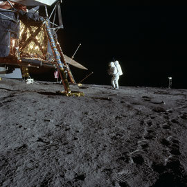 Apollo 12 site d'alunissage - Photo : Nasa/CDN