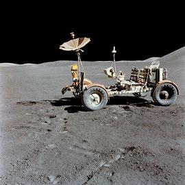 Apollo 15 le premier rover lunaire - Photo : Nasa/CDN