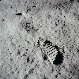 Empreinte de pied sur la Lune prise par Neil A. Armstrong, Apollo 11 - Photo : Nasa/CDN