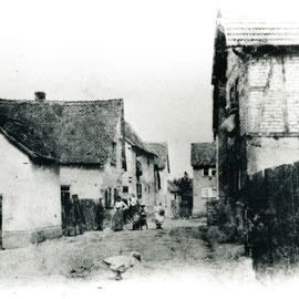 Foto Sammlung Gerda Bonarius: die Steinfurther Hintergasse um 1900