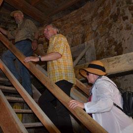 Besuch des Mühlenturms in der Langen Wand am Deutschen Mühlentag 2014 mit Förderverein Wind- und Wasserkunst e.V., Foto: Corinna Weigelt