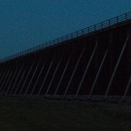 Windmühlenturm an der Langen Wand, erstmals mit Beleuchtung 09.06.2014, Foto: Beatrix van Ooyen