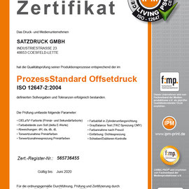 LIVING PSO! Zertifizierung – Satzdruck - Druckerei Coesfeld NRW
