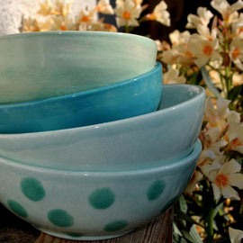 Keramikschalen handgetöpfert