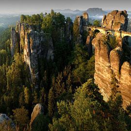 Elbsandsteingebirge (sud-est de l'Allemagne)