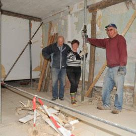 Die wichtigsten Stützen des Rainhauses: Klaus Burger, Karin und Roland Reisert