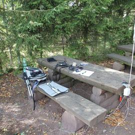 FT-817 und die MP1 Antenne auf der Kalmit DM/RP-302