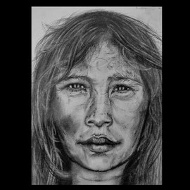 Pirahäfrau  21x27 cm                     Preis: Verkauft