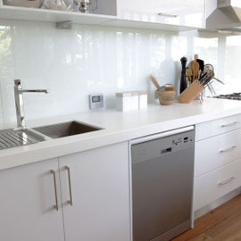 Clean cut, stylist kitchen in Surbiton