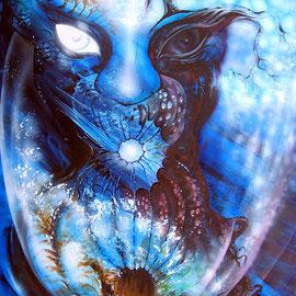 Tree-Heart; 2013; 85 x 50 cm; Acrylfarbe/Airbrush auf Stahlplatte