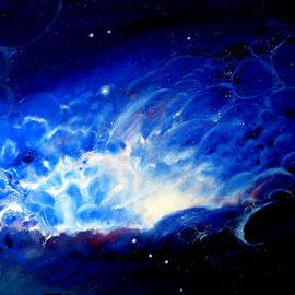 NGC 1499 astrobiologisch; 2008; 80 x 100 cm; Öl auf Leinwand