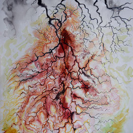 Feenstiefel 4;  Martin Welzel 2016; Tusche/Acryl/Farbstifte auf Aquarellpapier; 40 x 30 cm