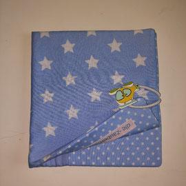 Pixibuchhülle, hellblau mit Sternen