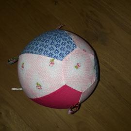 Luftballonhülle mit Bändern, rosa mit Rosen-blau-pink