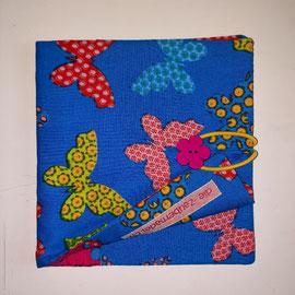 Pixibuchhülle, türkis mit Schmetterlingen