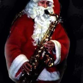 Funky Christmas Weihnachtsmann event house Rielasingen