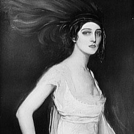 Ida Rubinstein (1885–1960). La bailarina y mecenas rusa amiga íntima de Ravel. Fue la inspiración y destinataria del Bolero. Retrato de Valentín Serov.